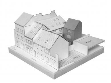 PřístavbakancelářeveVysokémMýtě - Fotografie modelu - foto: Prokš Přikryl architekti