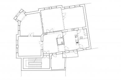 Rekonstrukce bytu v Černých Polích - Půdorys - původní stav