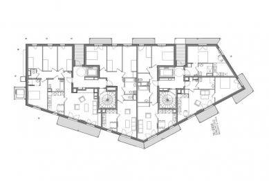 UNIC  - Půdorys - foto: Biecher Architectes