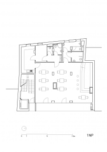 Bytový dům Vídeňská - Půdorys přízemí - foto: Fránek Architects s.r.o.