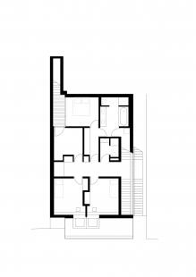 Rodinný dům v údolí Dyje - Půdorys 2NP