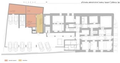 Administrativní budova Tipsport - Půdorys 1pz - foto: © FACIS architekti