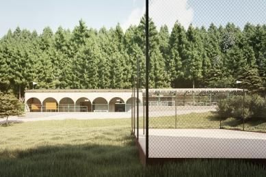 Projekt lesního koupaliště v Liberci - foto: mjölk architekti