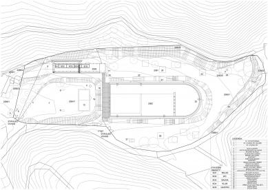 Projekt lesního koupaliště v Liberci - Situace - foto: mjölk architekti