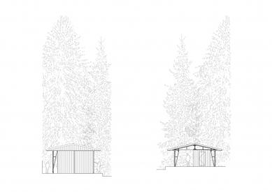 Projekt lesního koupaliště v Liberci - Severní a jižní pohled - foto: mjölk architekti