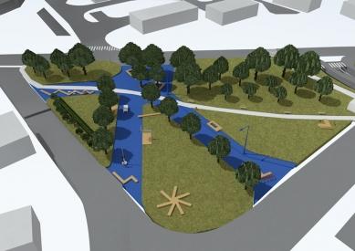 Rekonstrukce Komořanského náměstí - Vizualizace