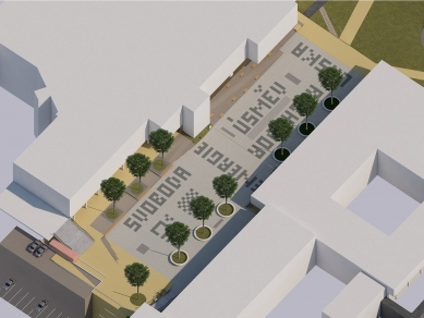Rekonstrukce Sofijského náměstí - Axonometrie