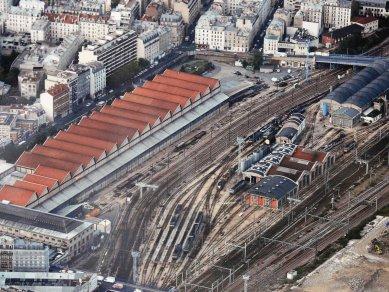 Rekonstrukce tržnice Pajol - Letecký snímek původní tržnice