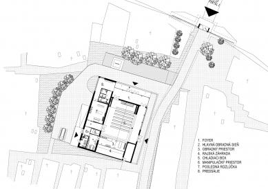 Rekonštrukcia domu smútku Šváby - Situace - foto: STOA architekti