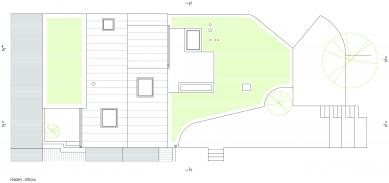 Rekonstrukce a přístavba domu vbývalé dělnické kolonii - Půdorys střechy