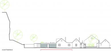 Rekonstrukce a přístavba domu vbývalé dělnické kolonii - Celkový řezopohled