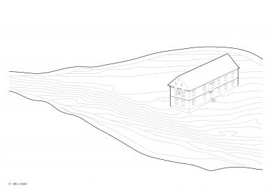 Dům v ruině - Axonometrie