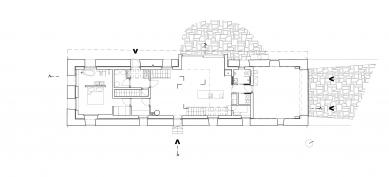 Dům v ruině - Půdorys 1NP