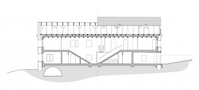 Dům v ruině - Řez
