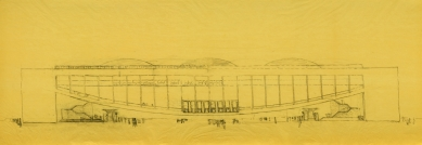 Projekt kongresového paláce vBenátkách - Pohled
