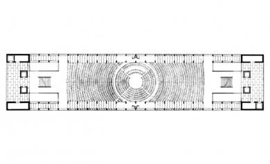 Projekt kongresového paláce vBenátkách - Půdorys