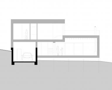Dům vBrandýse nad Orlicí - Řez - foto: molo architekti