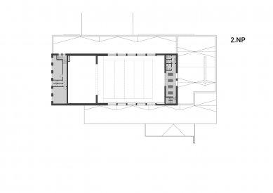 Rekonstrukce víceúčelového sálu SOUE Vejprnická - Půdorys 2.np - foto: projectstudio8