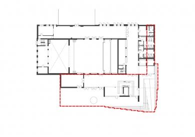 Rekonstrukce víceúčelového sálu SOUE Vejprnická - Rozsah přístavby - foto: projectstudio8