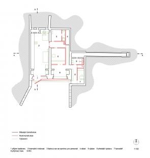 Věčná loviště - zvířecí krematorium - Půdorys - foto: Petr Hájek Architekti