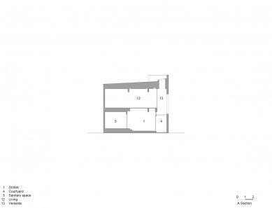 House in Himeji - Řez - foto: FujiwaraMuro Architects