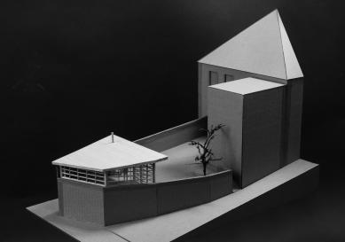 Altán městské knihovny ve Vamberku - Fotografie modelu - foto: Archiv Martin Kožnar