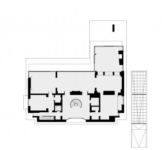 Villa B - Půdorys 1NP