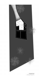 Zakřivený dům - Půdorys suterénu - foto: Daluz Gonzalez Architekten