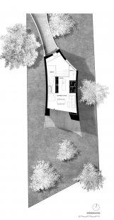 Zakřivený dům - Půdorys přízemí - foto: Daluz Gonzalez Architekten
