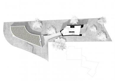 Zakřivený dům - Situace - foto: Daluz Gonzalez Architekten