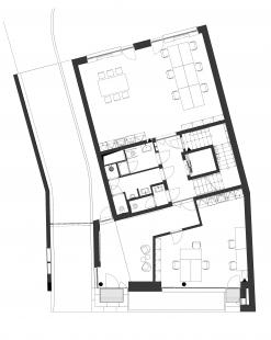 Administrativní objekt Dukelská Brno - Půdorys 1NP