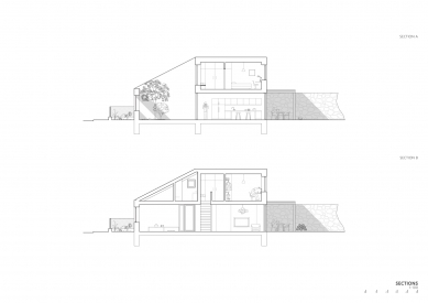Rodinný dům ve Zlíně - Řezy - foto: NOVÝ architekti