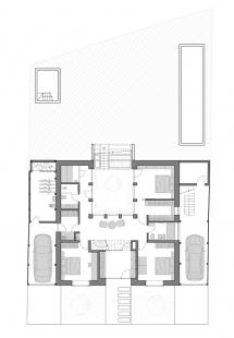 Rodinný dům s atriem - Půdorys 1NP