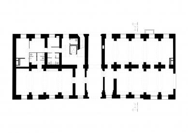Bochnerův palác - Půdorys 1.np - foto: Studio acht