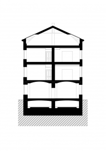 Bochnerův palác - Příčný řez - foto: Studio acht