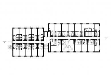Domeq - studentské bydlení - Půdorys typického podlaží - foto: Studio acht