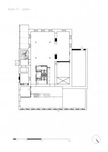 Konverze brownfieldu u říčky Ponávka - Budova C4 - půdorys 1.np - foto: Studio acht