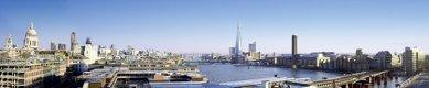 London Bridge Tower - Panoramatický pohled na věž ve dne. - foto: © Hayes Davidson and John Maclean