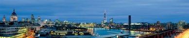 London Bridge Tower - Panoramatický pohled na věž v noci. - foto: © Hayes Davidson and John Maclean