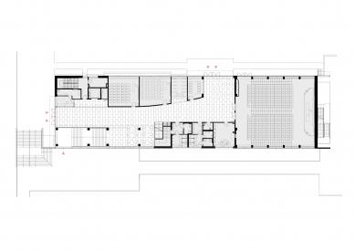 Pavilon IMPAKT MFF UK - Půdorys 2.np - foto: majo architekti