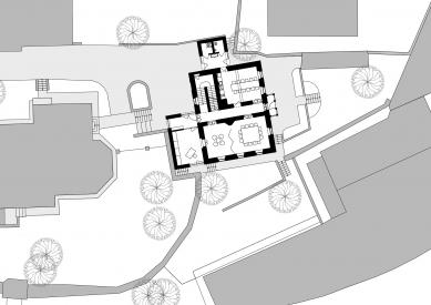 Rekonstrukce fary u kostela sv. Gotharda - Situace - foto: Kazimour Kripnerová Architekti.