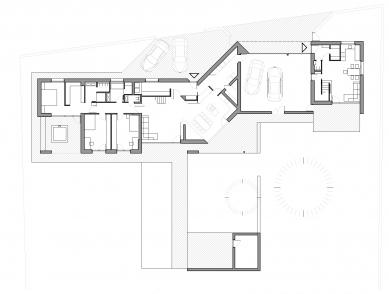 Rodinný dům v Rábech - Půdorys 1NP