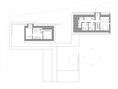 Rodinný dům v Rábech - Půdorys 2NP