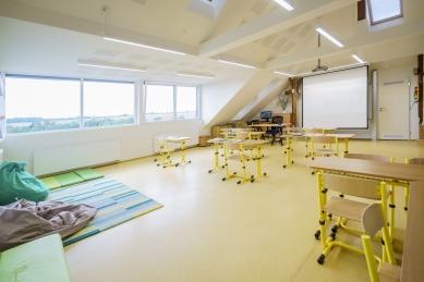 Dostavba a rekonstrukce základní a mateřské školy vÚněticích - foto: Jiří Ryszawy