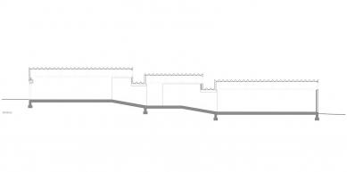 Artfarm  - Podélný řez - foto: HHF Architects