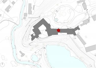 Návštěvnické centrum v areálu průhonického parku a zámku - Situace