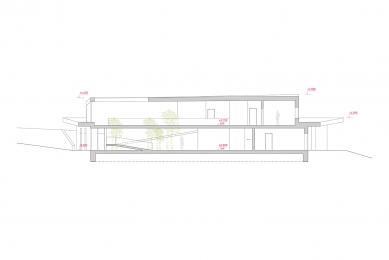 Rodinný dům u Brna - Řez A - foto: Fránek Architects