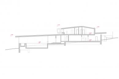 Rodinný dům u Brna - Řez B - foto: Fránek Architects