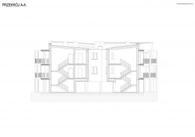 Bytový dům Vila Reden v Chořově - Řez A - foto: Franta Group