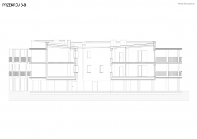 Bytový dům Vila Reden v Chořově - Řez B - foto: Franta Group